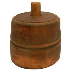 Vintage Round Wood Butter Mold ca.1800s