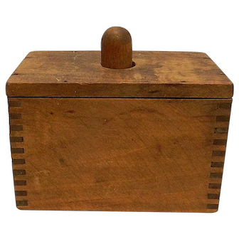 Vintage Rectangular Wooden Butter Mold