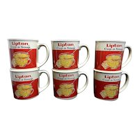 Vintage Lipton Cup-a-Soup Advertising Mugs