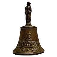 "Vintage Bronze Mission Bell ""FECIT BENITVS A REGIBVS"" on Skirt with an 1830 date on Bell"