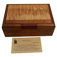 Vintage Walnut Box with Burl Top Signed by Richard and JoAnne DeMeules