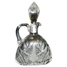 Vintage Cut Glass Oil or Vinegar Cruet