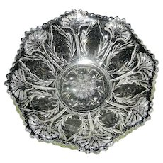 Vintage EAPG Bowl with Flowers