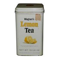 Vintage Wagner's Lemon Tea Tin