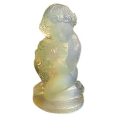 Sabino Art Glass Opalescent Crystal Cherub
