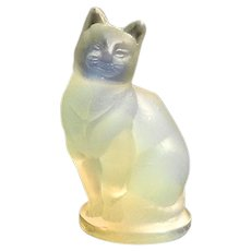 Vintage Sabino Art Glass Opalescent Small Cat