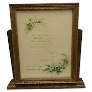 Vintage Art Deco Style Wood Swinging Picture Frame