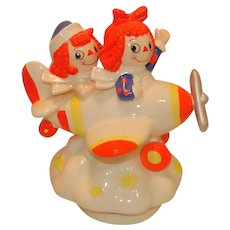 Vintage Limited Edition Raggedy Ann and Andy Flying High Music Box