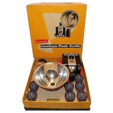 Vintage 1960's Kodak Brownie Hawkeye Flash Outfit in Original Box