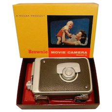 Vintage Kodak Brownie 8 mm. Movie Camera with Original Box