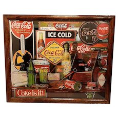 Vintage 1992 Coca Cola Through the Years Limited Edition Mirror