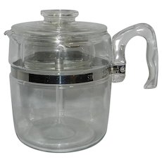 Vintage Pyrex Flameware 9 cup percolator
