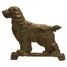 Vintage Large Aluminum Cocker Spaniel Gate Topper