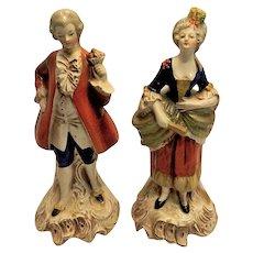Vintage Pair of W. Goebel Victorian Figurines Made in Germany