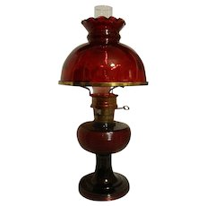Vintage Aladdin B-83 Ruby Crystal Beehive Table Lamp ca.1937-38