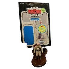 Vintage Kenner Luke Skywalker (Hoth Battle Gear) 1980 with 48 Card Backer