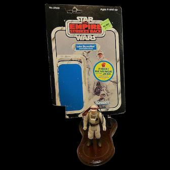 Vintage Kenner Luke Skywalker (Hoth Battle Gear) 1980 with 48 Card Backer