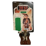Vintage 1983 Kenner Lando Calrissian (Skiff Guard – Disguise) with Return of the Jedi Card