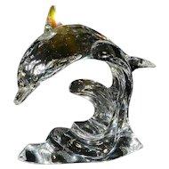 Swarovski Figurine Retired Dolphin on a Wave 190365