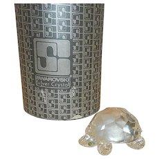 Vintage Retired Swarovski Crystal Turtle Figurine