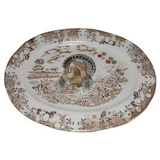 Vintage Traditional Turkey Platter Made in Japan