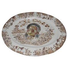 Vintage Traditional Turkey Platter Made in Japan