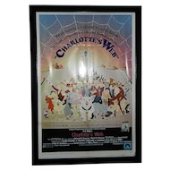 Vintage Original 1972 Charlotte's Web Movie Poster 41 x 27