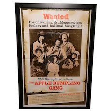 "Vintage The Apple Dumpling Gang (1975) Original U.S. One Sheet Movie Poster 27"" x 41"""