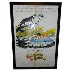 "Vintage Walt Disney The Jungle Book R 1978 Original 1 Sheet Movie Poster 27"" x 41"""