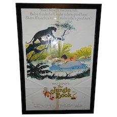 "Vintage Walt Disney The Jungle Book R 1978 Original 1 Sheet Movie Poster 27"" x 41"""