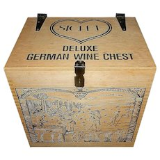 Vintage Wood Sichel Deluxe German Wine Chest