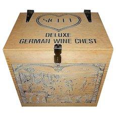 Vintage Wood Sichel Deluxe German Wine Chest
