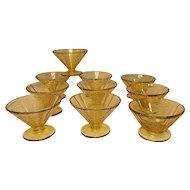 Vintage Original Madrid Federal Depression Glass Sherbet Dishes