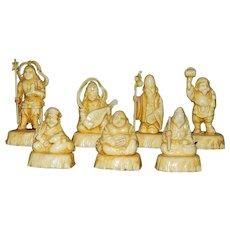 Vintage Molded Resin Netsuke Japanese Figurines