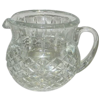 Vintage Small Glass Milk, Juice or Water Pitcher