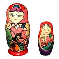 Vintage U.S.S.R. Wooden Stacking Dolls