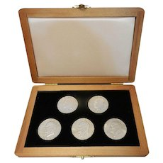 Vintage 1970's S Mint US Commemorative Society #13764 set of 5 Eisenhower Dollars