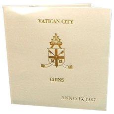 Vatican City Pontiff John Paul II Anno IX Mint Set MCMLXXXVII 1987 UNC