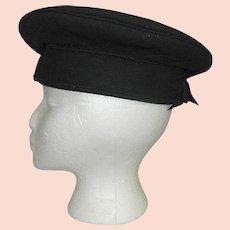 Vintage 1940's Flying Saucer Pillbox Platter Style Hat