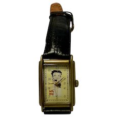 Vintage Limited Edition Betty Boop Rectangular Face Fossil Watch