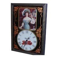 Vintage Pepsi Victorian Lady Wall Clock 1973