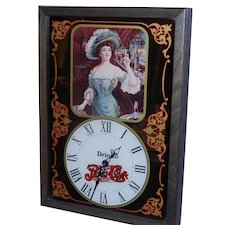 Vintage Pepsi Victorian Lady Wall Clock 1973