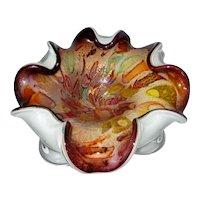 Vintage Large Murano Mid-Century Tutti Frutti A.VE.M Art Glass Bowl