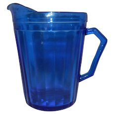 Vintage 1935 Cobalt Blue Glass Hazel Atlas AURORA Creamer Pitcher Shirley Temple Style
