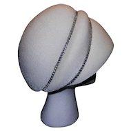 Vintage Elder's Line White Hat with Rhinestone Bands