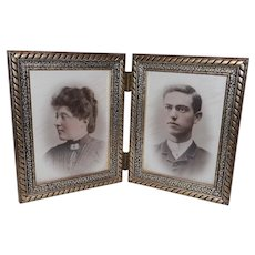 Vintage Double Wood Picture Frame