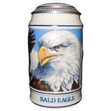 Vintage 1989 Limited Edition Anheuser Busch Budweiser Bald Eagle Endangered Species CS106 Stein Mug