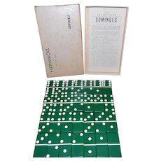 Vintage Standard Green Puremco 616 Dominoes