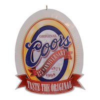 Vintage 1997 Coors Beer 125th Anniversary [1873-1998] 34''x27.5'' Ltd Edition METAL SIGN