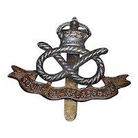 Original WWII South Staffordshire Regiment Cap Badge